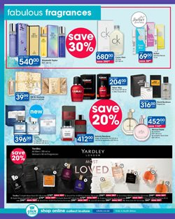 Perfume offers in the Clicks catalogue in Cape Town