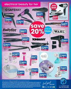 Spas offers in the Clicks catalogue in Cape Town