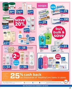 Soap offers in the Clicks catalogue in Cape Town
