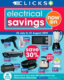 Clicks deals in the Cape Town special