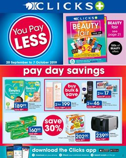 Beauty & Pharmacy offers in the Clicks catalogue in Durban