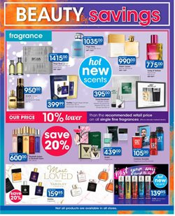 Perfume specials in Clicks