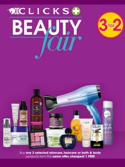 Beauty & Pharmacy offers in the Clicks catalogue ( 10 days left)