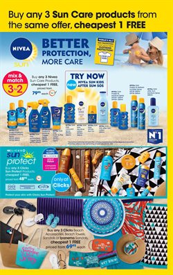 Sandals offers in the Clicks catalogue in Cape Town