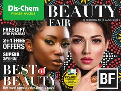 Beauty & Pharmacy offers in the Dis-Chem catalogue in Roodepoort ( 19 days left )
