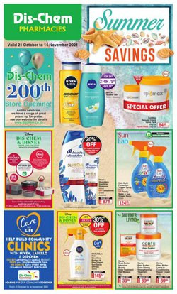 Beauty & Pharmacy offers in the Dis-Chem catalogue ( 19 days left)