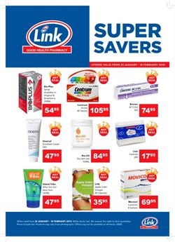 Link Pharmacy deals in the Johannesburg special