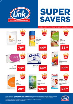 Beauty & Pharmacy offers in the Link Pharmacy catalogue in East London