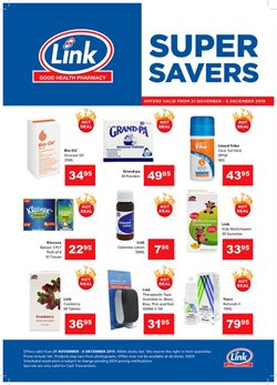 Beauty & Pharmacy offers in the Link Pharmacy catalogue in Durban