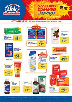 Beauty & Pharmacy offers in the Link Pharmacy catalogue in Cape Town ( 9 days left )