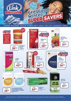 Beauty & Pharmacy offers in the Link Pharmacy catalogue ( Published today)