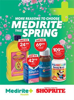 Beauty & Pharmacy offers in the MediRite catalogue in Cape Town ( 9 days left )