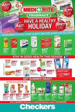 Beauty & Health offers in the MediRite Pharmacy catalogue in Khayelitsha