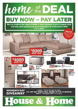Home & Furniture offers in the House & Home catalogue in Port Elizabeth