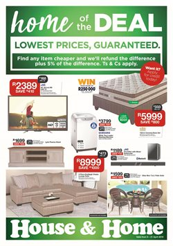 House & Home deals in the Pretoria special