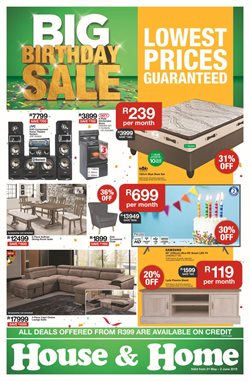 Home & Furniture offers in the House & Home catalogue in Rustenburg