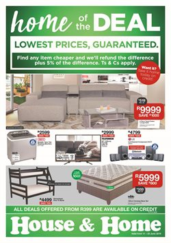 Home & Furniture offers in the House & Home catalogue in Cape Town