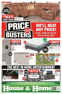 Home & Furniture offers in the House & Home catalogue in Vereeniging