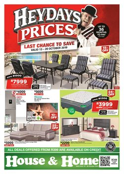 House & Home deals in the Johannesburg special