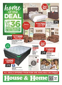 Home & Furniture offers in the House & Home catalogue in Roodepoort