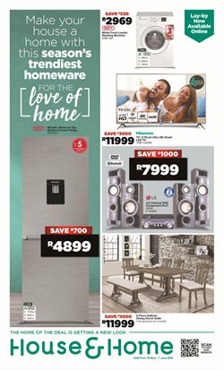 Home & Furniture offers in the House & Home catalogue in Welkom ( 7 days left )