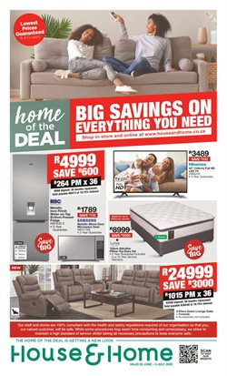 Home & Furniture offers in the House & Home catalogue in Port Elizabeth ( Expires today )