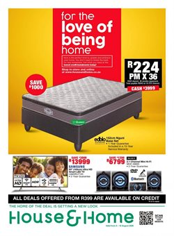 Bed specials in House & Home