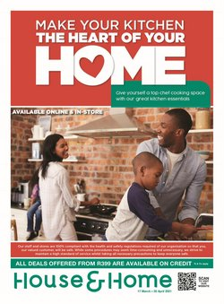 Home & Furniture offers in the House & Home catalogue in Benoni ( 10 days left )