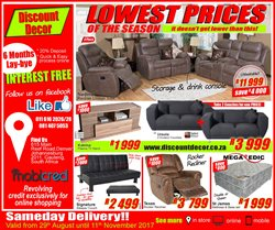Discount Decor deals in the Johannesburg special