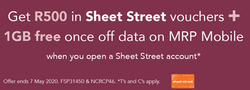 Sheet Street coupon in Durban ( More than a month )