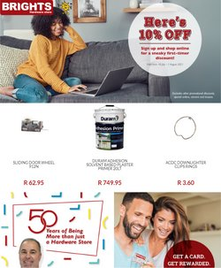 Brights Hardware offers in the Brights Hardware catalogue ( 28 days left)