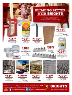 Bricks offers in the Brights Hardware catalogue in Cape Town
