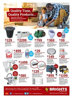 Brights Hardware deals in the Bellville special