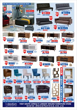 Sofa offers in the Decofurn Factory Shop catalogue in Cape Town
