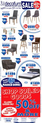 Decofurn Factory Shop deals in the Cape Town special