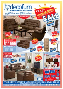 Home & Furniture offers in the Decofurn Factory Shop catalogue in Khayelitsha