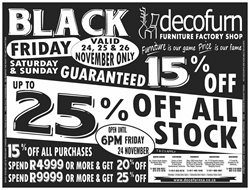 Home & Furniture offers in the Decofurn Factory Shop catalogue in Randburg