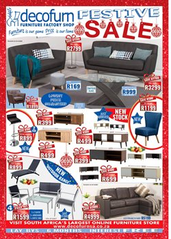 Home & Furniture offers in the Decofurn Factory Shop catalogue in Cape Town
