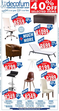 Decofurn Factory Shop deals in the Pretoria special