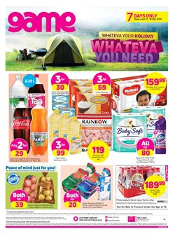 Game deals in the Johannesburg special
