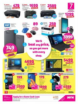 Tablet offers in the Game catalogue in Cape Town