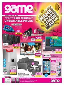 Electronics & Home Appliances offers in the Game catalogue in Roodepoort ( 1 day ago )