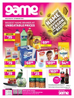 Game catalogue in Durban ( 2 days left )