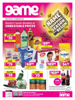 Electronics & Home Appliances offers in the Game catalogue ( 2 days left )