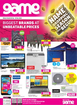 Electronics & Home Appliances offers in the Game catalogue in Pretoria ( Published today )