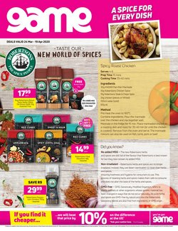 Preserves, oils and spices specials in Game