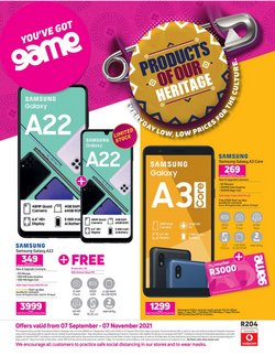 Electronics & Home Appliances offers in the Game catalogue ( More than a month)