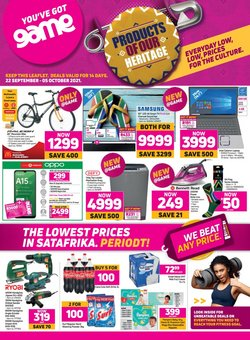 Electronics & Home Appliances offers in the Game catalogue ( 10 days left)