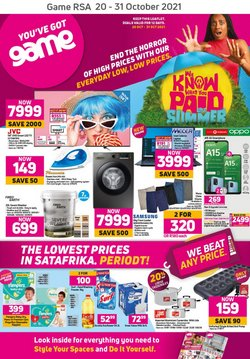 Electronics & Home Appliances offers in the Game catalogue ( Published today)