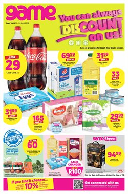 Game deals in the Port Elizabeth special